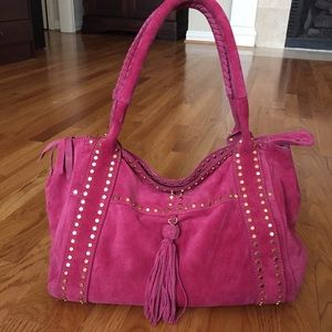 French Connection Suede Studded Large tote bag